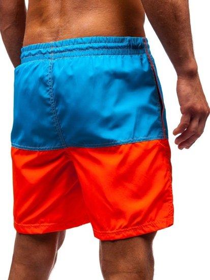 Světle modré pánské koupací šortky Bolf 310