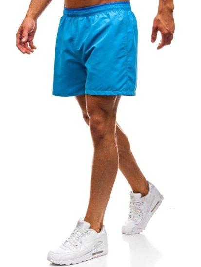 Světle modré pánské koupací šortky Bolf Y768