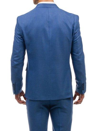 Světle modrý pánský oblek Bolf 1000