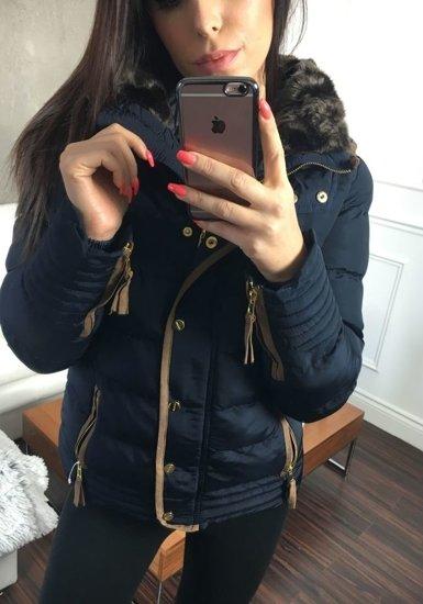 Tmavě modrá dámská zimní bunda Bolf 16