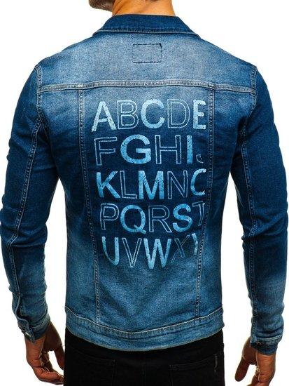 Tmavě modrá pánská džínová bunda Bolf 2051