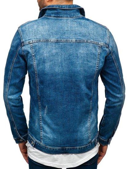 Tmavě modrá pánská džínová bunda Bolf AK585