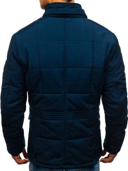 Tmavě modrá pánská elegantní přechodová bunda Bolf 1796