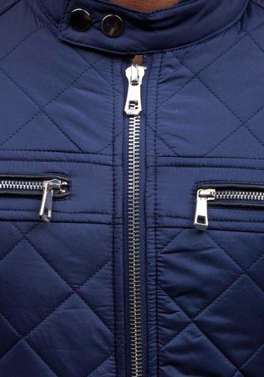 Tmavě modrá pánská přechodná bunda Bolf 1078