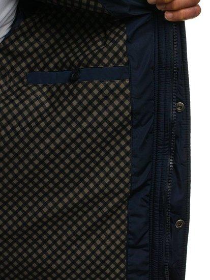 Tmavě modrá pánská přechodová bunda Bolf 1666