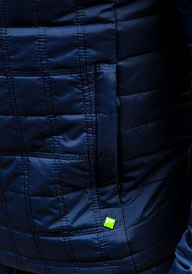 Tmavě modrá pánská přechodná bunda Bolf m503
