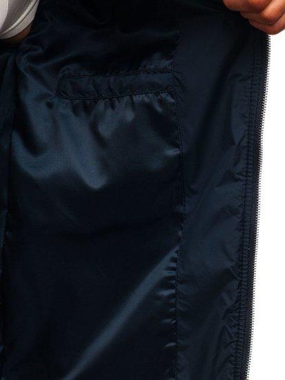 Tmavě modrá pánská přechodová bunda Bolf 8208
