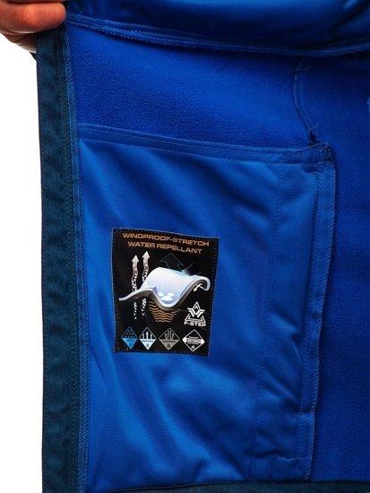 Tmavě modrá pánská softshellová bunda Bolf AB008