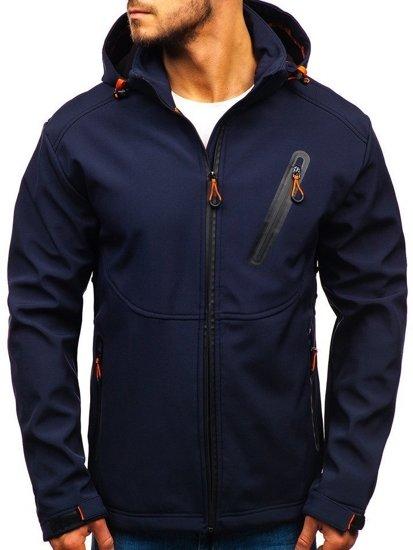Tmavě modrá pánská softshellová přechodová bunda Bolf 5425