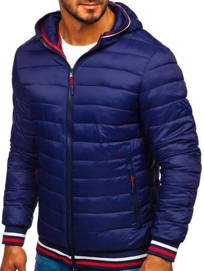 Tmavě modrá pánská sportovní zimní bunda Bolf LY1009