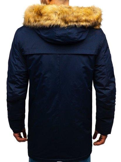 Tmavě modrá pánská zimní parka Bolf R105