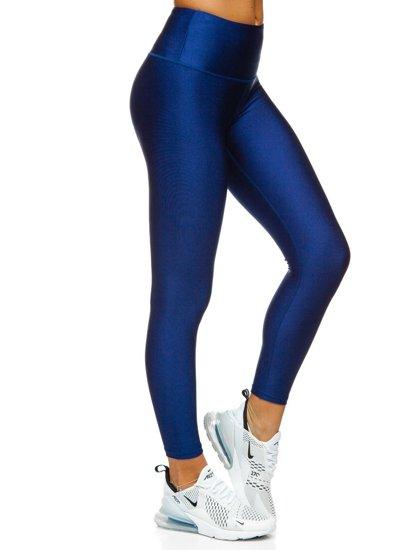 Tmavě modré dámské legíny Bolf YW06010