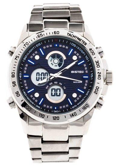 Tmavě modré ocelové pánské hodinky Bolf 210