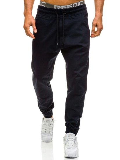 Tmavě modré pánské baggy kalhoty Bolf 0399