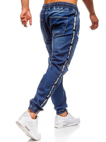 Tmavě modré pánské džínové baggy kalhoty Bolf 2045