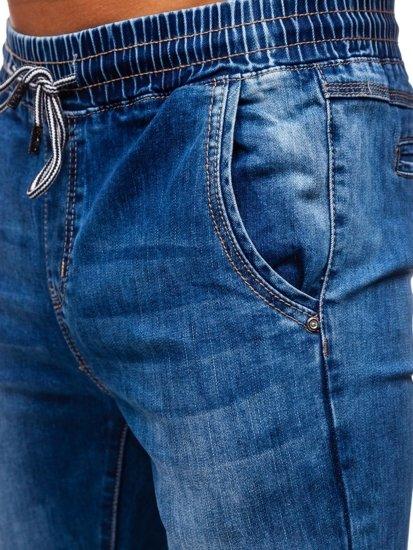 Tmavě modré pánské džínové jogger kahoty Bolf KA1538