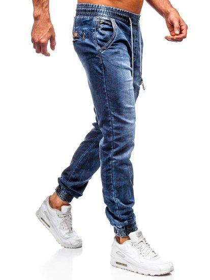 Tmavě modré pánské džínové jogger kalhoty Bolf KA687