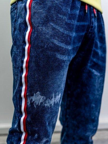 Tmavě modré pánské džínové jogger kalhoty Bolf KK1050