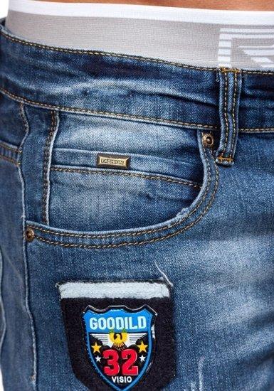 Tmavě modré pánské džínové kalhoty Bolf 1681