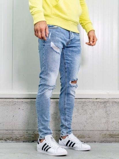Tmavě modré pánské džíny skinny fit Bolf KA1733-1
