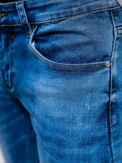 Tmavě modré pánské džíny skinny fit Bolf KX397