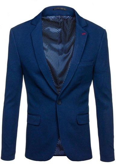 Tmavě modré pánské elegantní sako Bolf 072