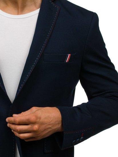 Tmavě modré pánské elegantní sako Bolf RBR002
