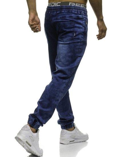 Tmavě modré pánské jogger kalhoty Bolf HY185