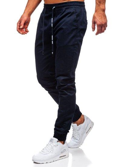 Tmavě modré pánské jogger kalhoty Bolf KA951