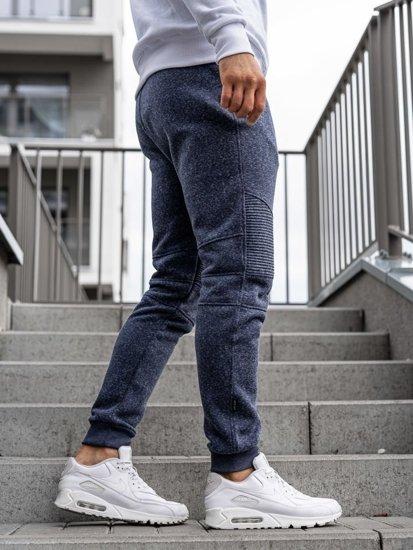 Tmavě modré pánské jogger tepláky Bolf Q3770