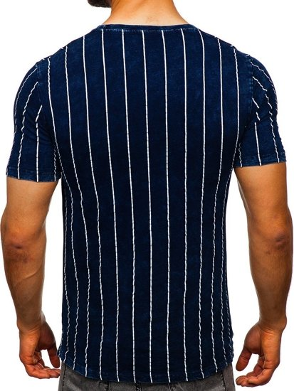 Tmavě modré pánské tričko s potiskem Bolf HFM017