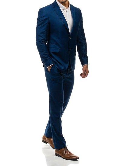 Tmavě modrý pánský oblek-2 Bolf 1000