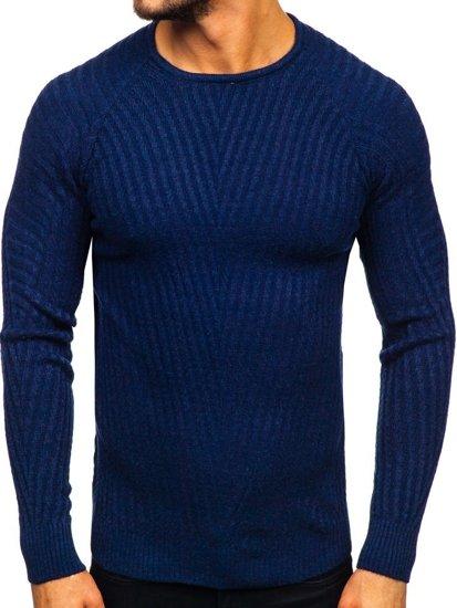 Tmavě modrý pánský svetr Bolf 285