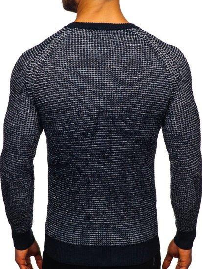 Tmavě modrý pánský svetr Bolf H1932
