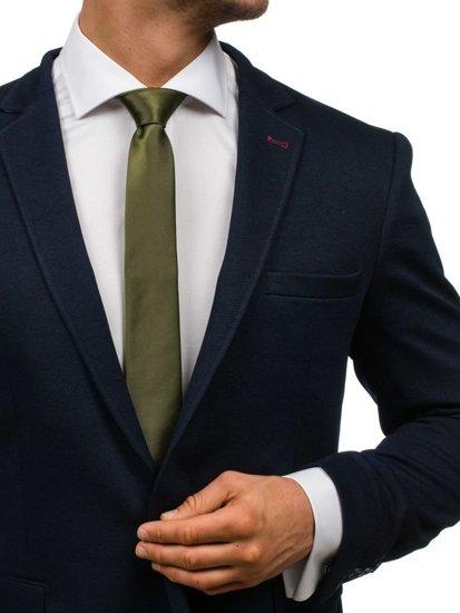 Tmavě zelená pánská elegantní kravata Bolf K001