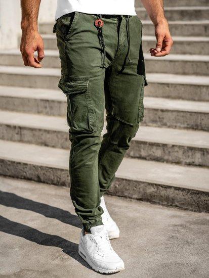 Tmavě zelené pánské jogger kapsáče Bolf CT6705