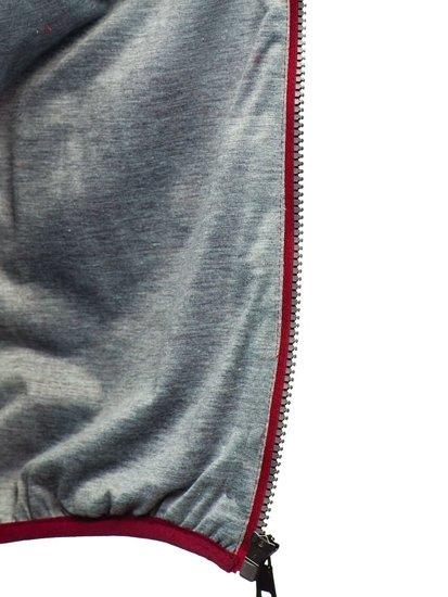 Vínová pánská prošívaná vesta Bolf 1253
