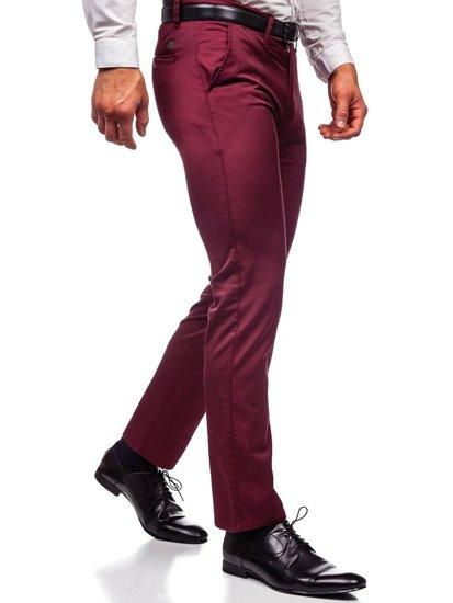 Vínové pánské chino kalhoty Bolf KA1786P