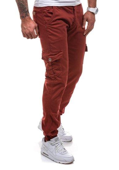 Vínové pánské jogger kapsáče Bolf 0802