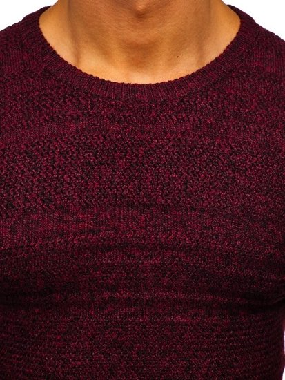 Vínový pánský svetr Bolf H1926