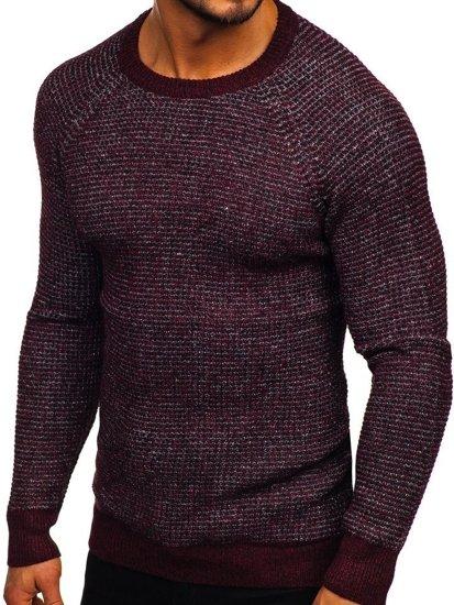 Vínový pánský svetr Bolf H1932