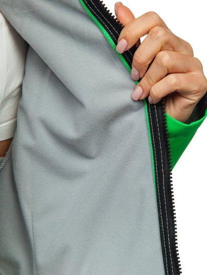 Zelená dámská přechodová softshellová bunda Bolf S010