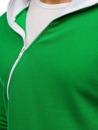 Zelená pánská mikina s kapucí Bolf PAUL