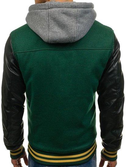 Zelená pánská přechodná bunda Bolf K18