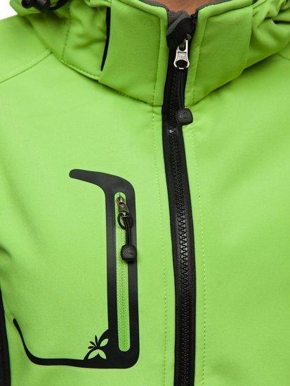 Zelená pánská přechodová softshellová bunda Bolf 307