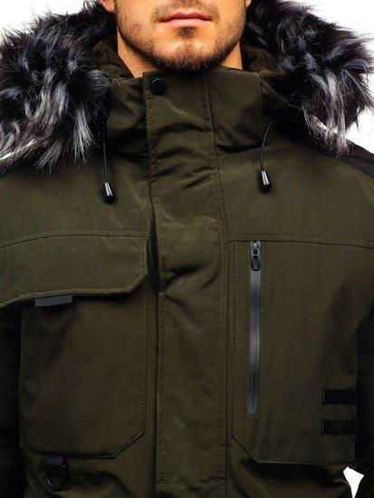 Zelená pánská zimní bunda Bolf 201809