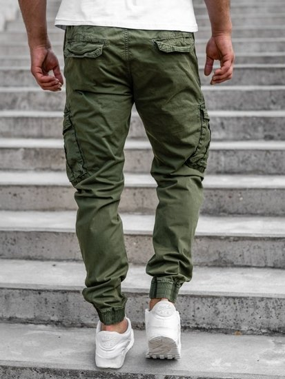 Zelené pánské jogger kapsáče Bolf CT6701