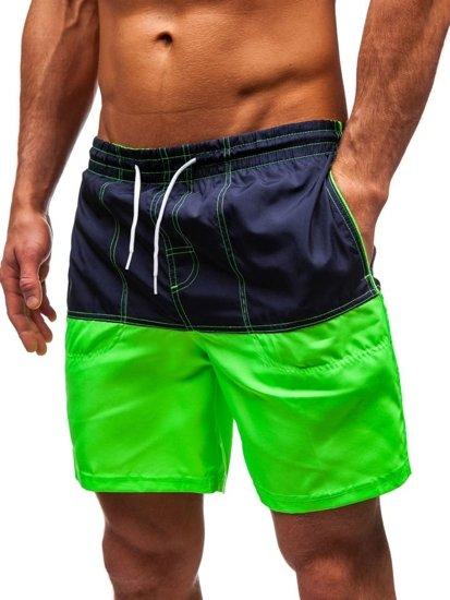 Zelené pánské koupací šortky Bolf 310