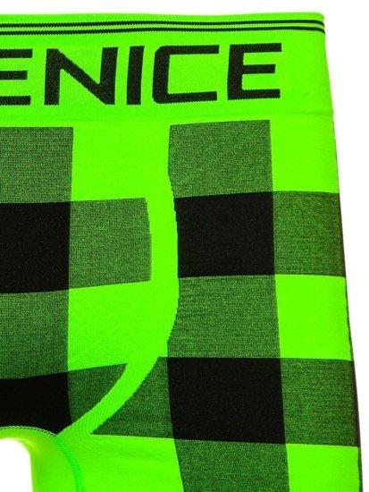 Zeleno-neonové pánské boxerky Bolf PL4497