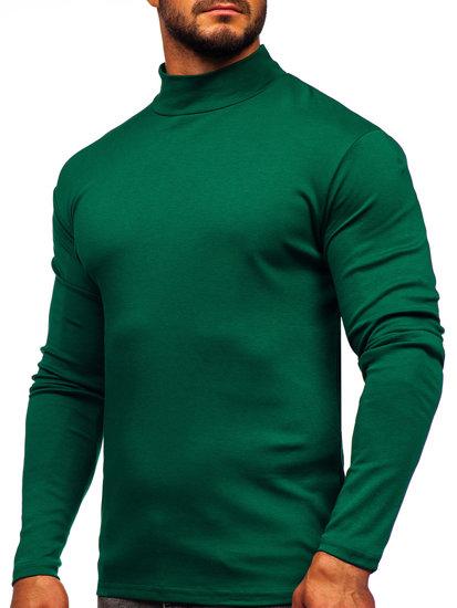 Zelený pánský rolák bez potisku Bolf 145348